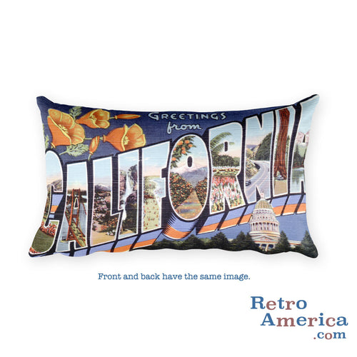 Greetings from California Throw Pillow 2