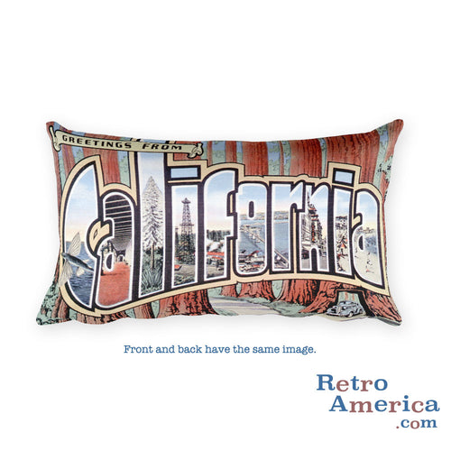 Greetings from California Throw Pillow 3