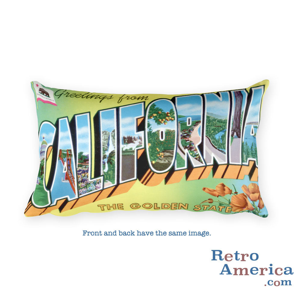 Greetings from California Throw Pillow 4