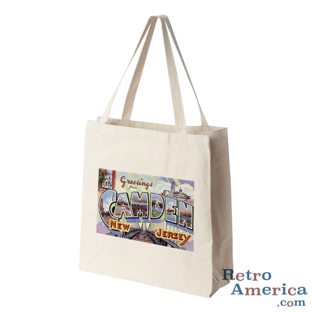 Greetings from Camden New Jersey NJ Postcard Tote Bag