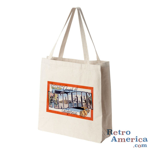 Greetings from Camp Pendleton California CA Postcard Tote Bag