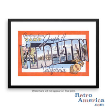 Greetings from Camp Pendleton California CA Postcard Framed Wall Art
