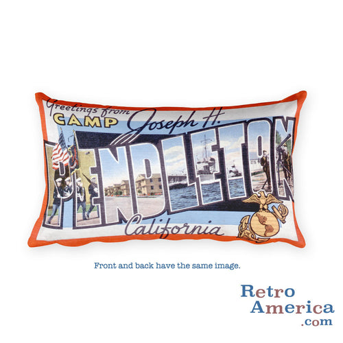 Greetings from Camp Pendleton California Throw Pillow