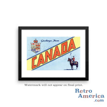 Greetings from Canada Canada 2 Postcard Framed Wall Art