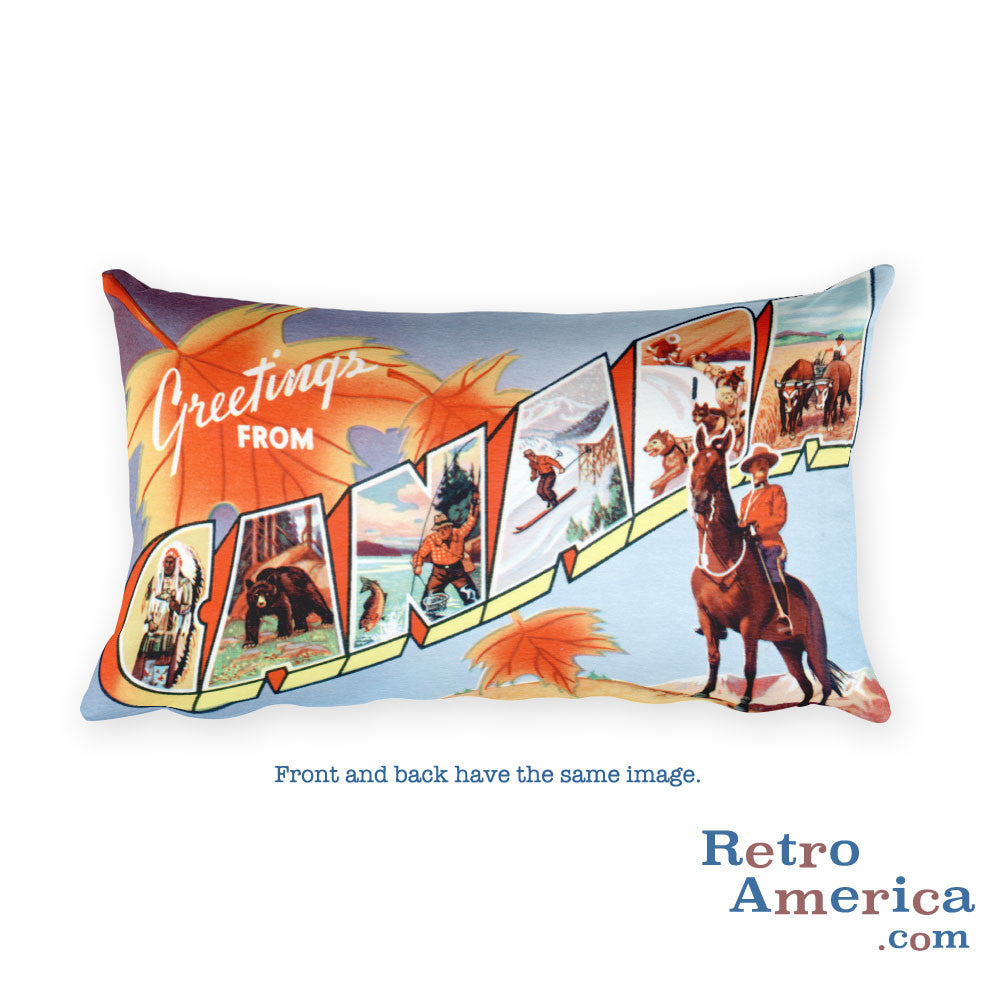 Greetings from Canada Throw Pillow 1