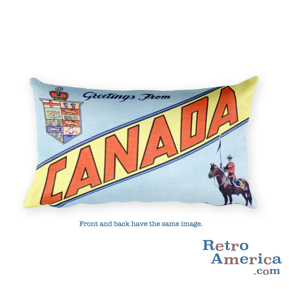Greetings from Canada Throw Pillow 2