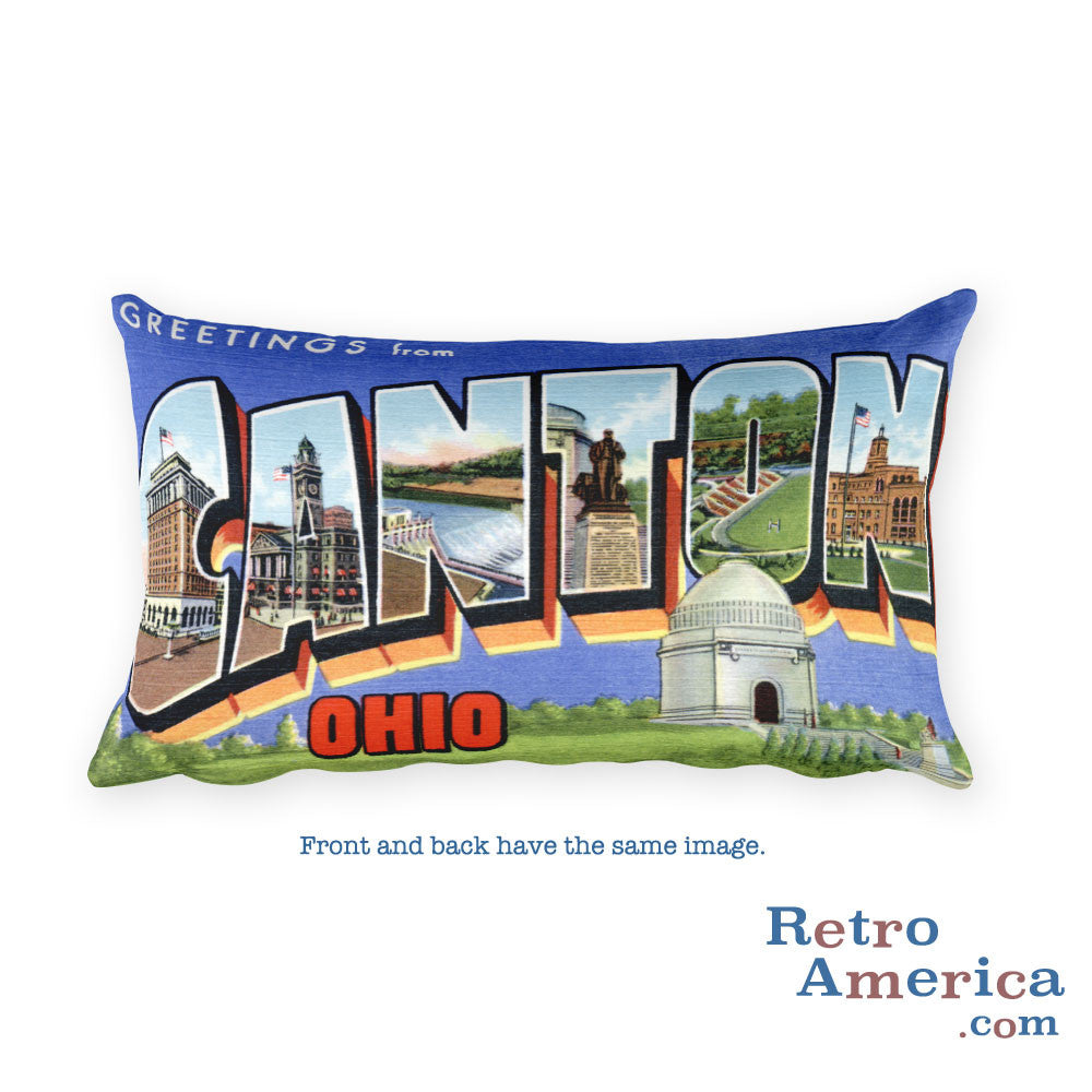 Greetings from Canton Ohio Throw Pillow