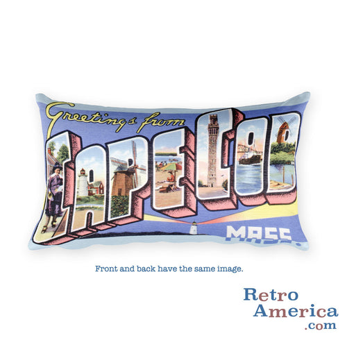 Greetings from Cape Cod Massachusetts Throw Pillow