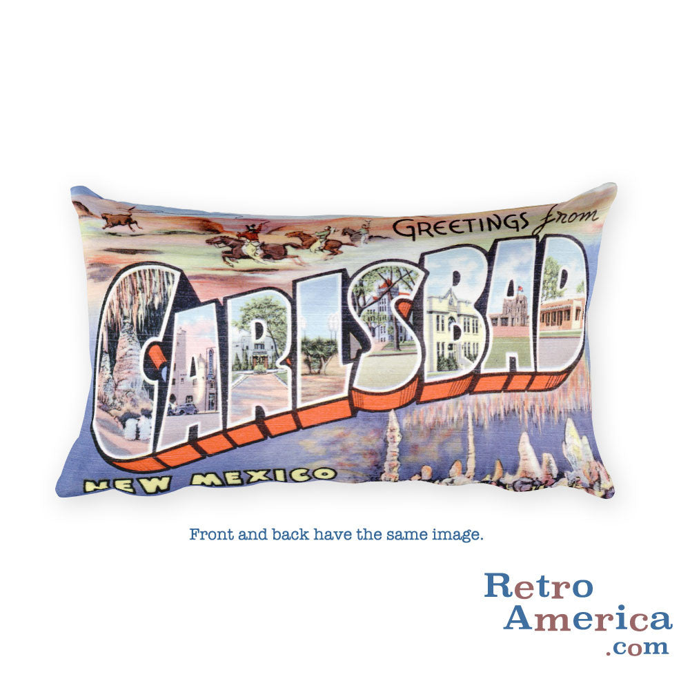 Greetings from Carlsbad New Mexico Throw Pillow