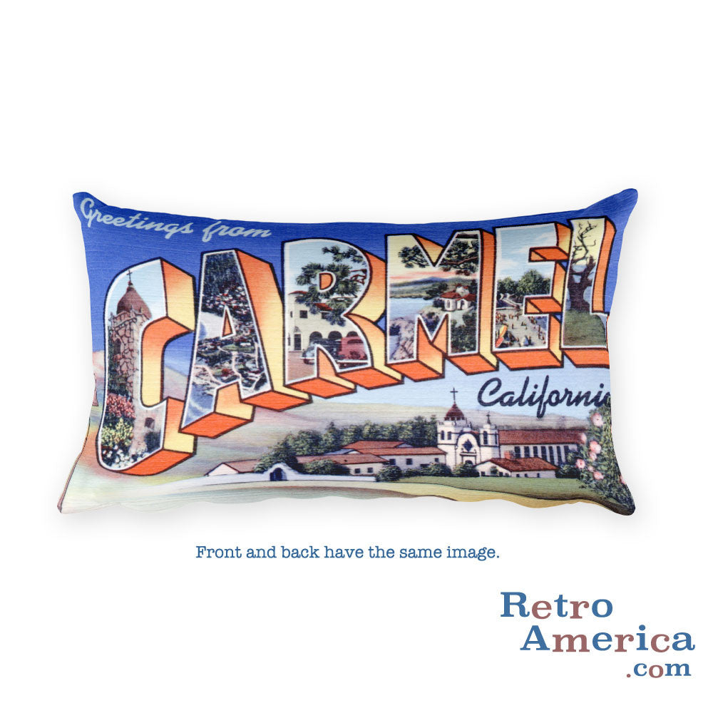 Greetings from Carmel California Throw Pillow