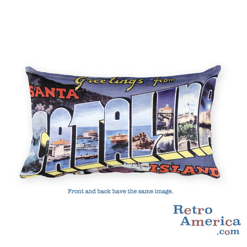 Greetings from Catalina Island California Throw Pillow