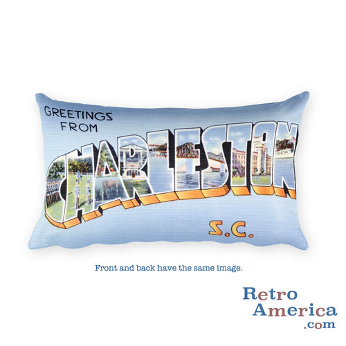 Greetings from Charleston South Carolina Throw Pillow