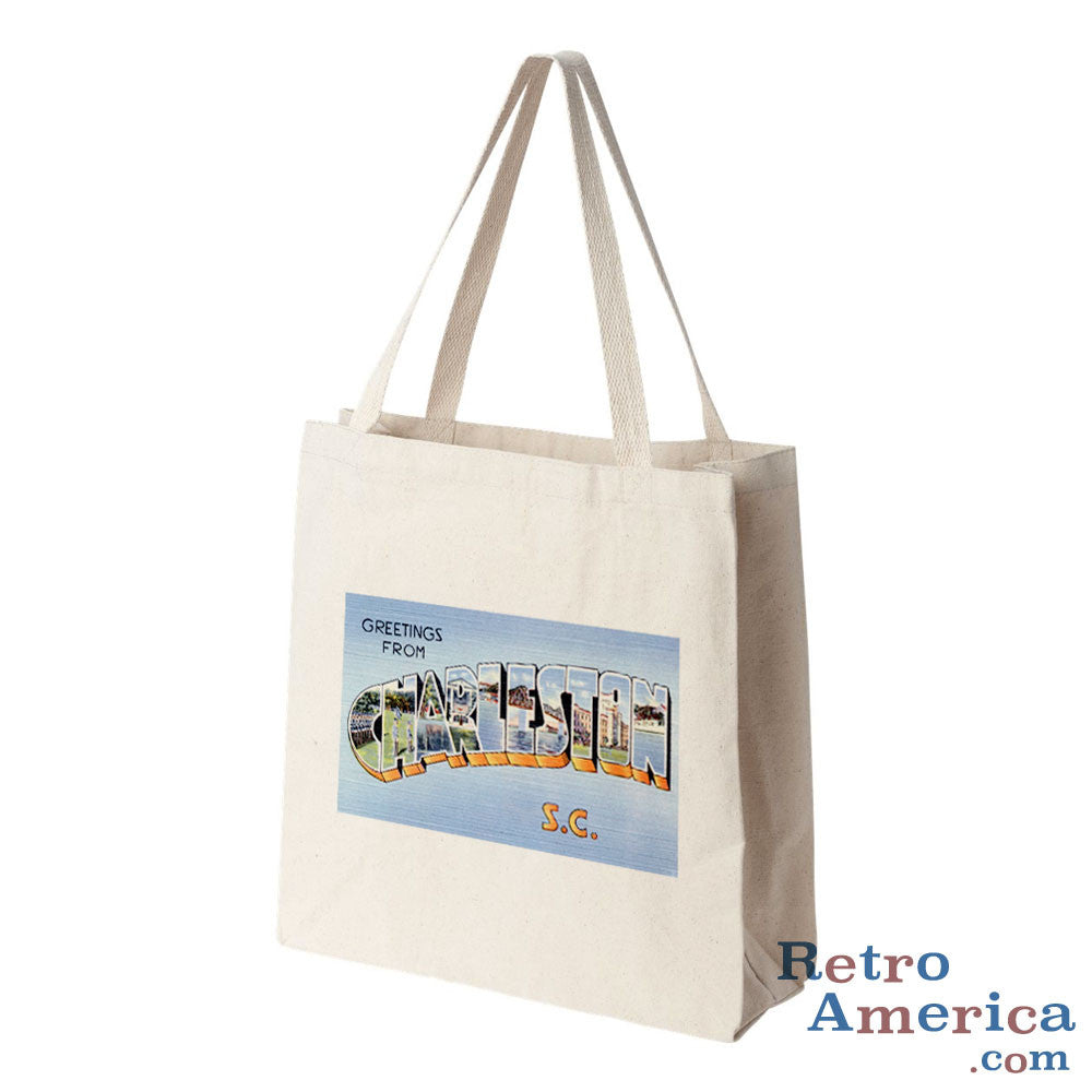 Greetings from Charleston South Carolina SC Postcard Tote Bag