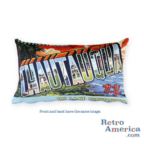 Greetings from Chautauqua New York Throw Pillow