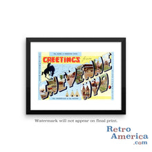 Greetings from Cheyenne Wyoming WY Postcard Framed Wall Art