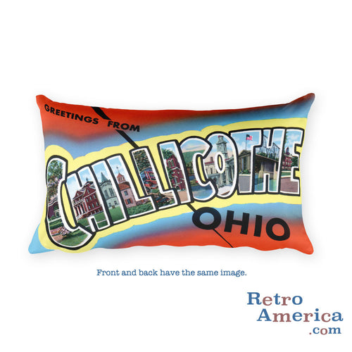Greetings from Chillicothe Ohio Throw Pillow