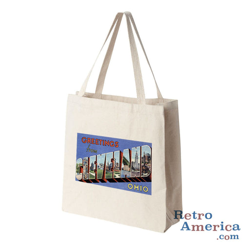Greetings from Cleveland Ohio OH 2 Postcard Tote Bag