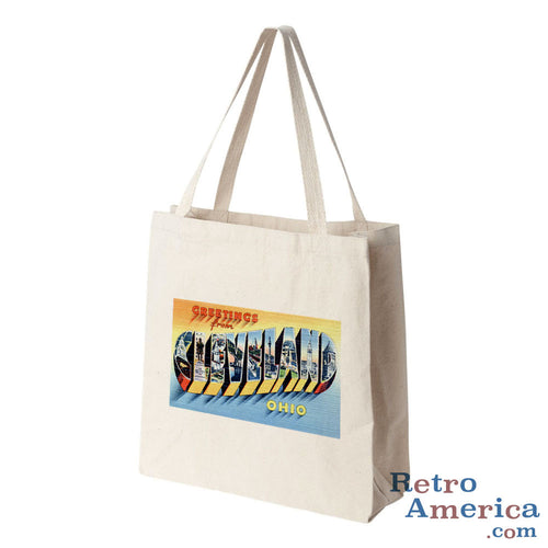 Greetings from Cleveland Ohio OH 3 Postcard Tote Bag