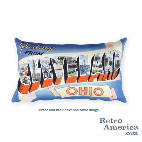 Greetings from Cleveland Ohio Throw Pillow 1