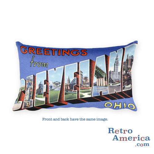 Greetings from Cleveland Ohio Throw Pillow 2