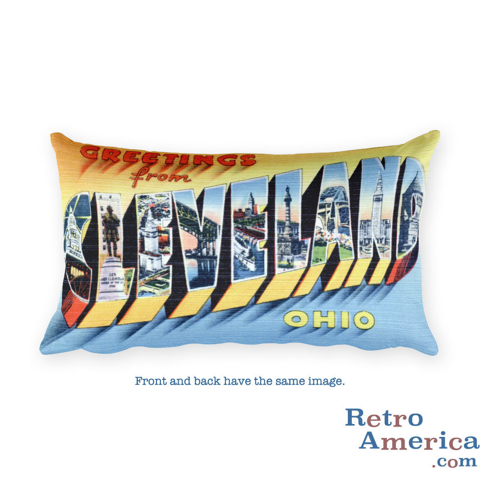 Greetings from Cleveland Ohio Throw Pillow 3