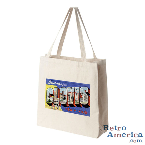 Greetings from Clovis New Mexico NM Postcard Tote Bag