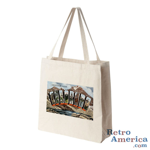 Greetings from Colorado CO 3 Postcard Tote Bag
