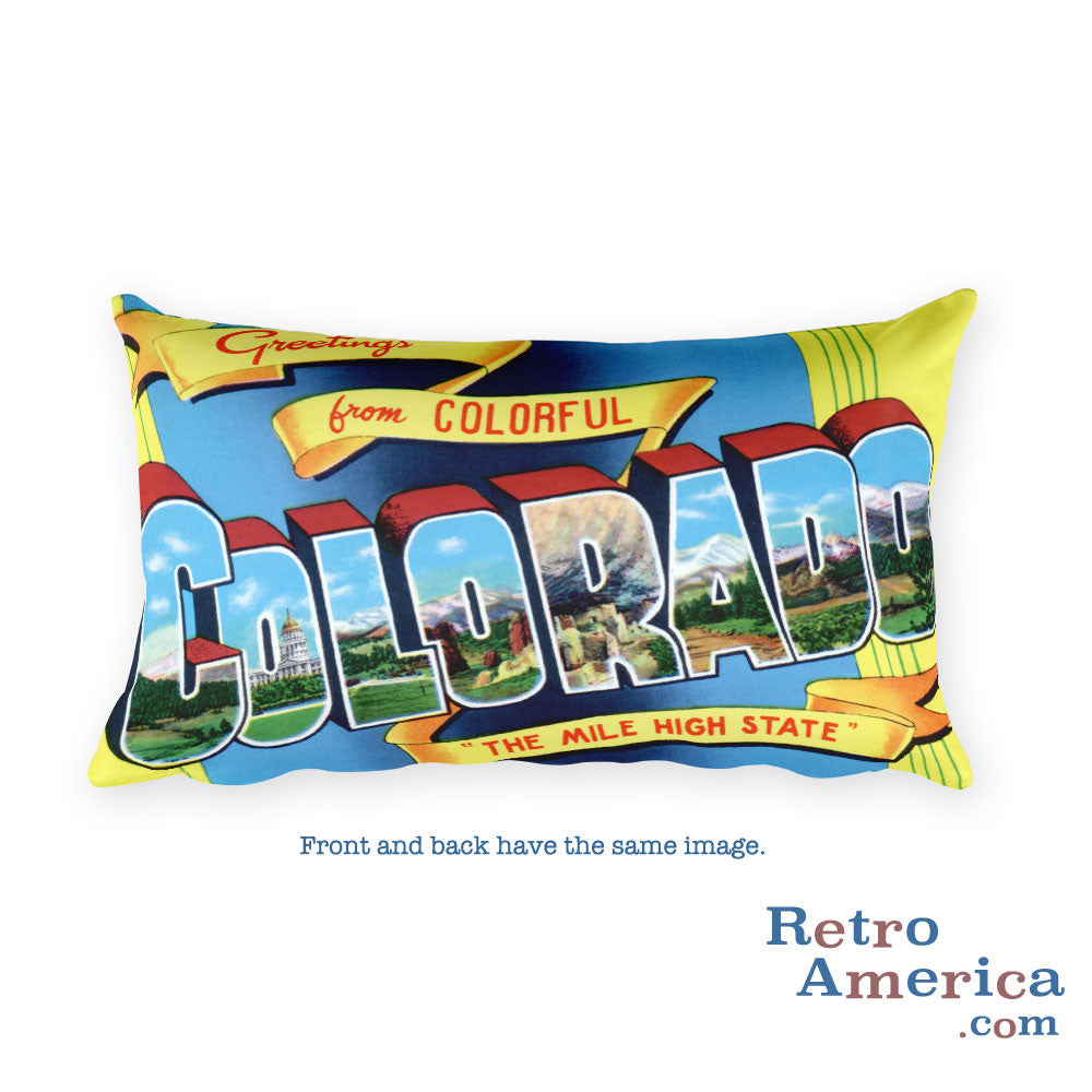 Greetings from Colorado Throw Pillow 2