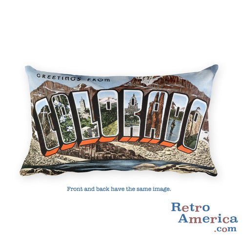 Greetings from Colorado Throw Pillow 3