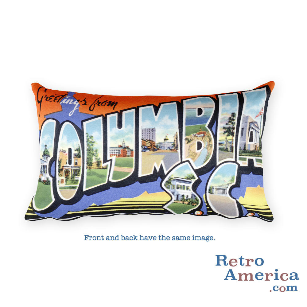 Greetings from Columbia South Carolina Throw Pillow 2
