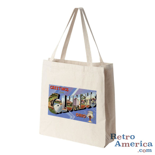 Greetings from Columbus Ohio OH 1 Postcard Tote Bag