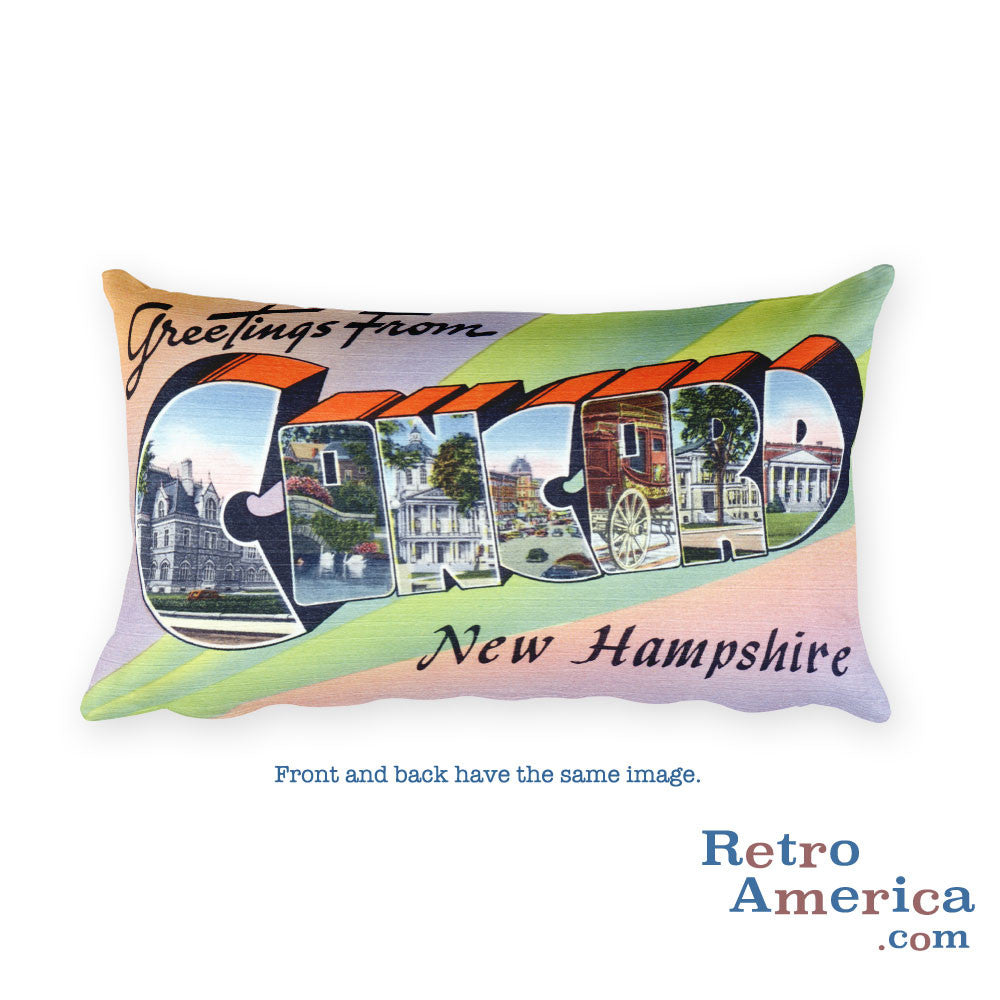 Greetings from Concord New Hampshire Throw Pillow