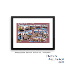 Greetings from Coney Island New York NY 1 Postcard Framed Wall Art