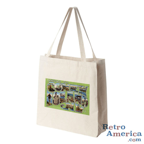 Greetings from Coney Island New York NY 2 Postcard Tote Bag