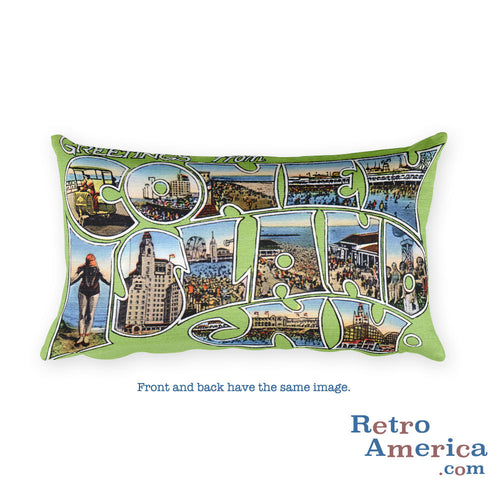 Greetings from Coney Island New York Throw Pillow 2