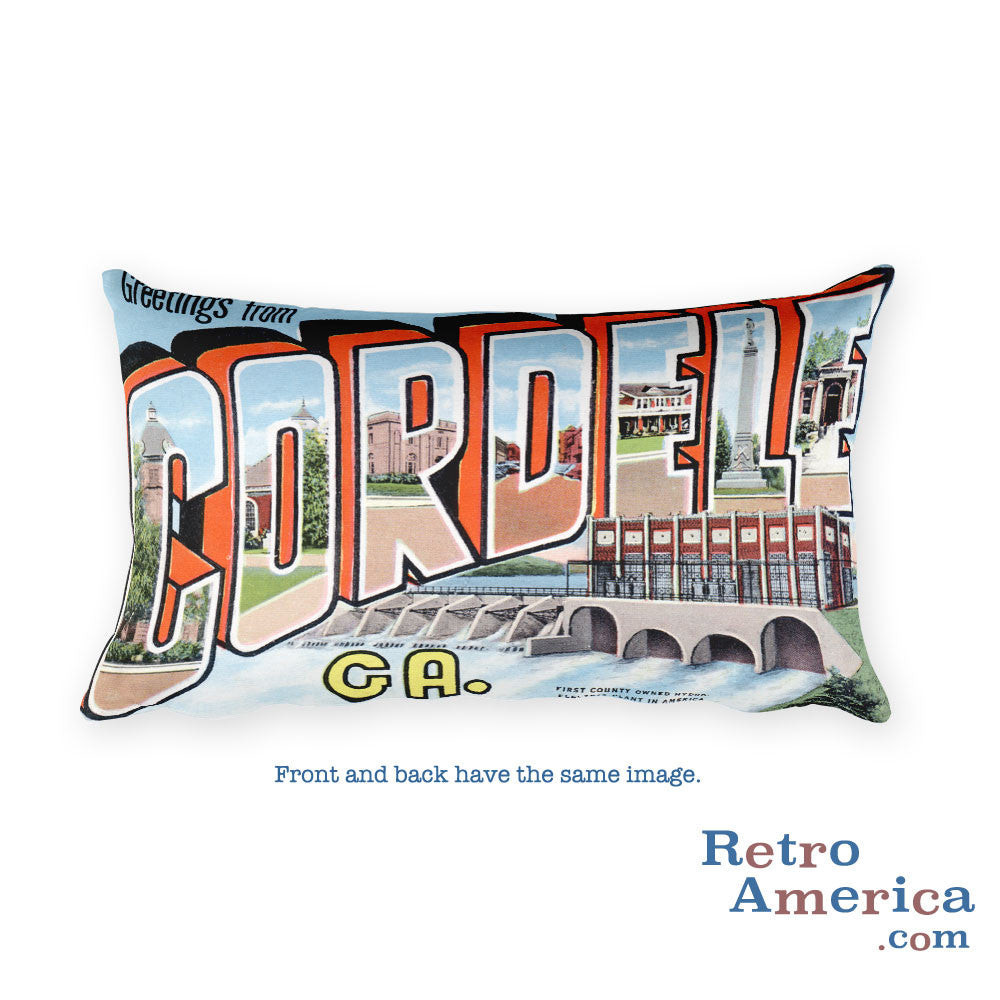Greetings from Cordele Georgia Throw Pillow