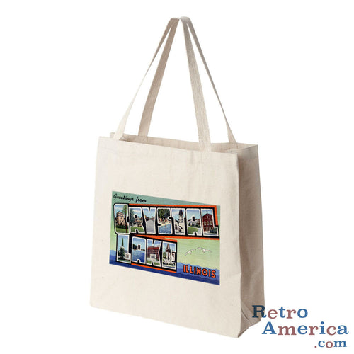 Greetings from Crystal Lake Illinois IL Postcard Tote Bag