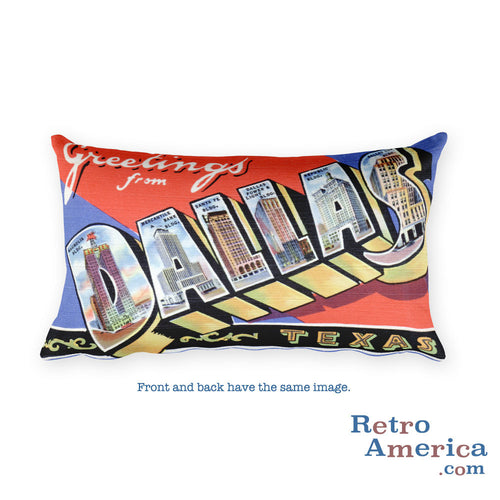 Greetings from Dallas Texas Throw Pillow 1