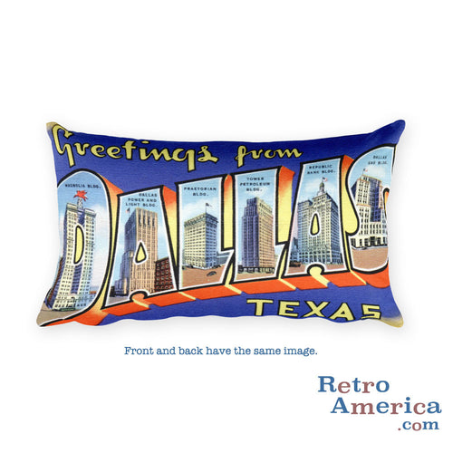 Greetings from Dallas Texas Throw Pillow 2
