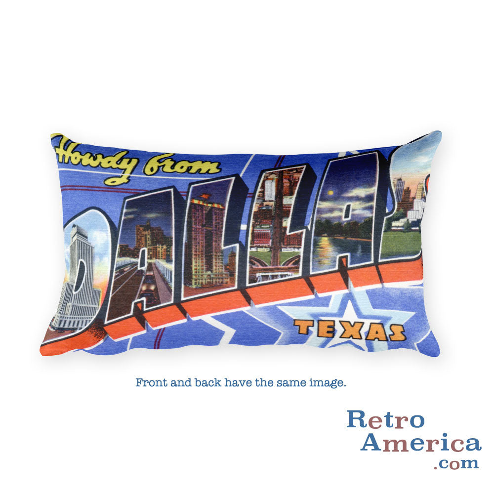 Greetings from Dallas Texas Throw Pillow 3