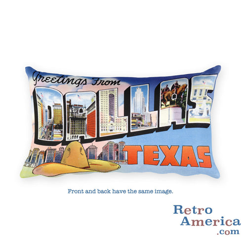 Greetings from Dallas Texas Throw Pillow 4