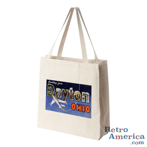 Greetings from Dayton Ohio OH Postcard Tote Bag