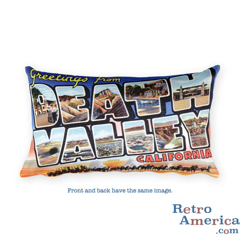 Greetings from Death Valley California Throw Pillow
