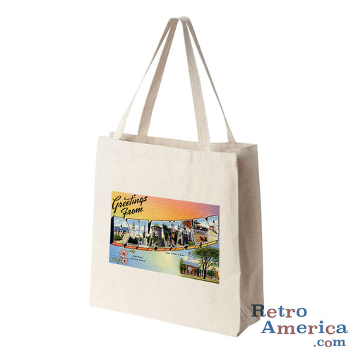 Greetings from Delaware DE 1 Postcard Tote Bag