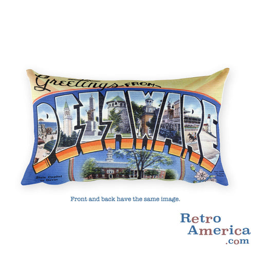 Greetings from Delaware Throw Pillow 2