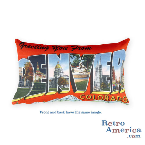 Greetings from Denver Colorado Throw Pillow 2