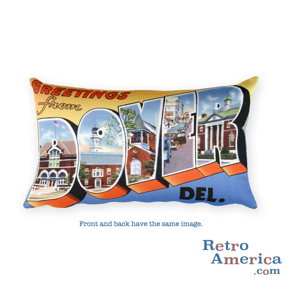 Greetings from Dover Delaware Throw Pillow