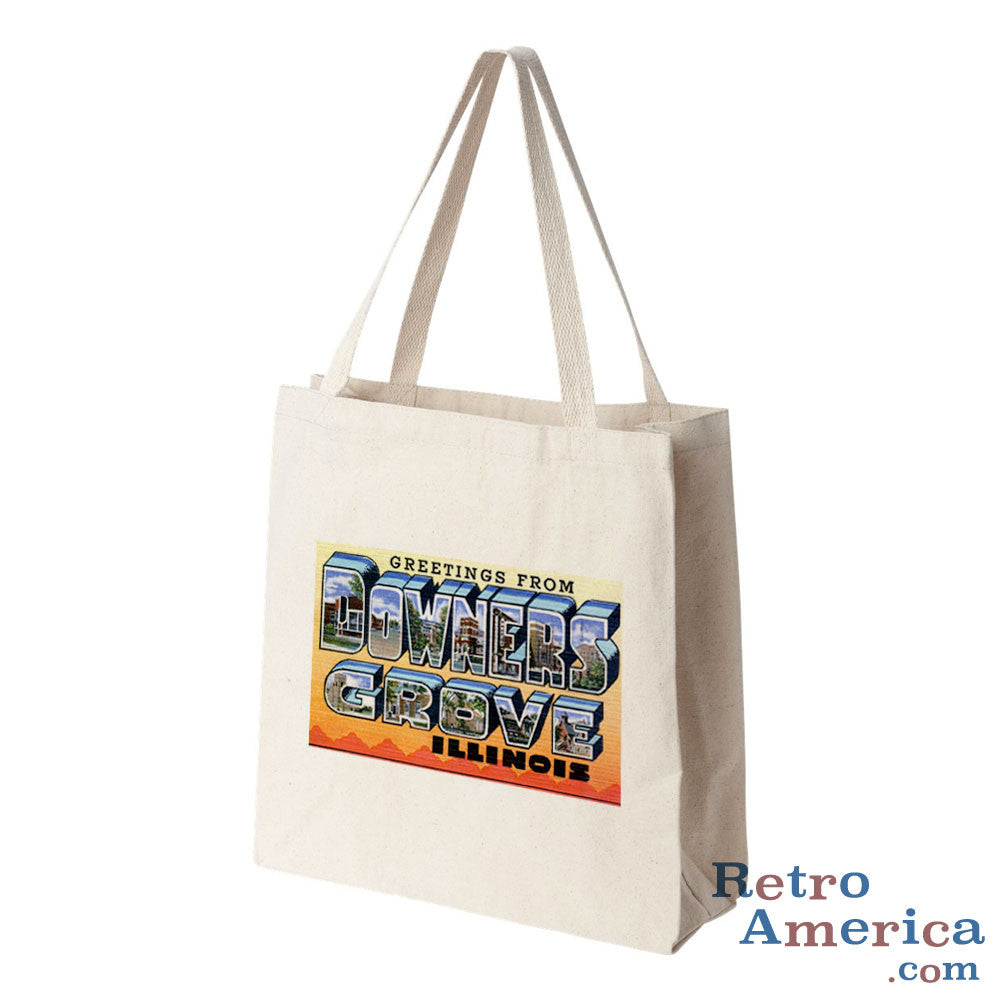 Greetings from Downers Grove Illinois IL Postcard Tote Bag