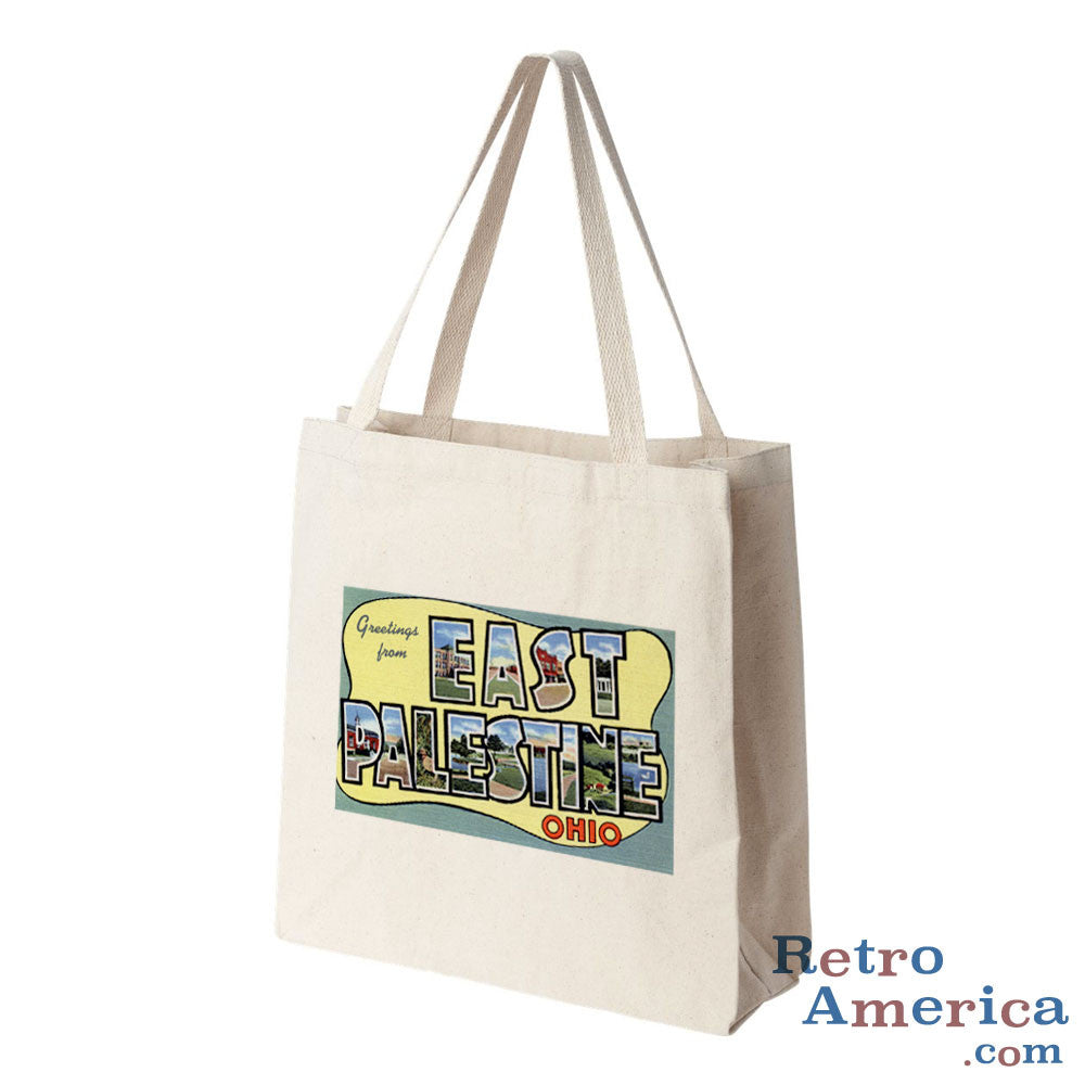 Greetings from East Palestine Ohio OH Postcard Tote Bag