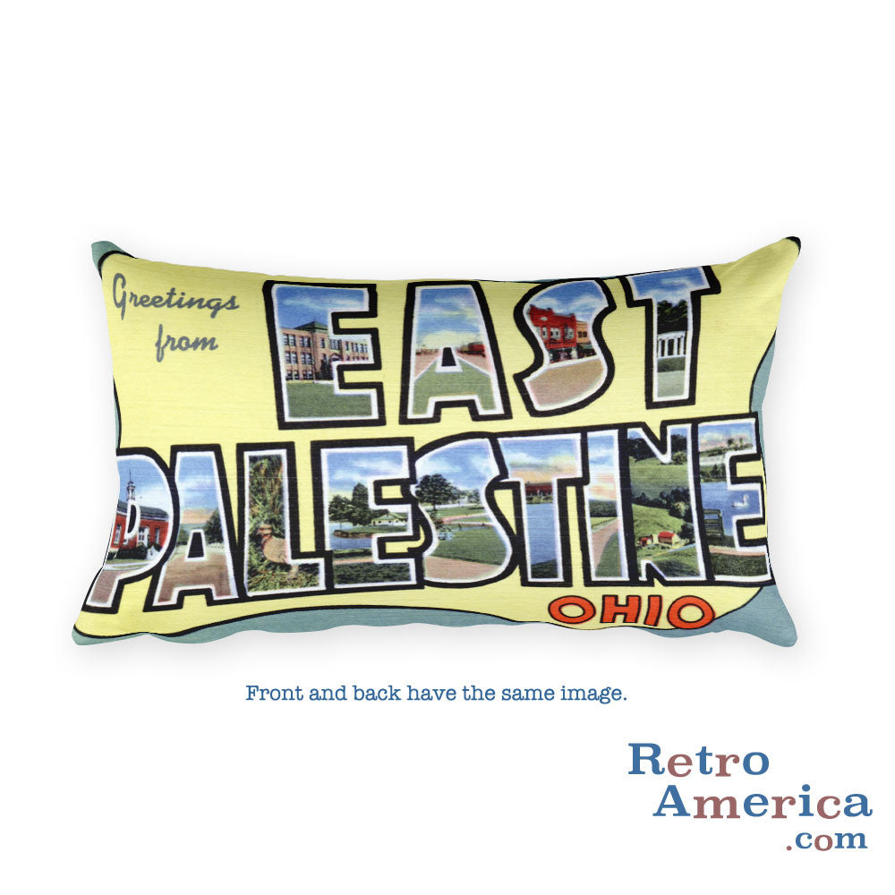 Greetings from East Palestine Ohio Throw Pillow